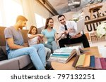 a family with a little girl is...   Shutterstock . vector #797132251