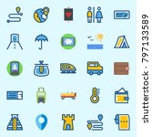 icons set about travel. with... | Shutterstock .eps vector #797133589