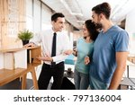 the furniture store manager... | Shutterstock . vector #797136004