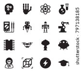 solid black vector icon set  ... | Shutterstock .eps vector #797138185