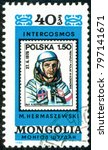 ukraine   circa 2018  a postage ... | Shutterstock . vector #797141671