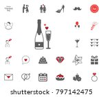 champagne icon. valentines day...   Shutterstock .eps vector #797142475