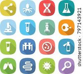 flat vector icon set   molecule ... | Shutterstock .eps vector #797143921
