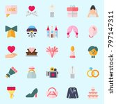 icons set about wedding. with... | Shutterstock .eps vector #797147311