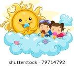 illustration of kids eating ice ... | Shutterstock .eps vector #79714792