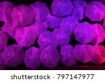 blur the night with a white... | Shutterstock . vector #797147977