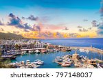 beautiful view of the kyrenia... | Shutterstock . vector #797148037