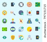 icons set about marketing. with ...   Shutterstock .eps vector #797151715