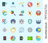 icons set about marketing. with ...   Shutterstock .eps vector #797151721