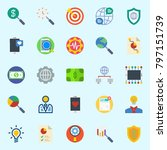 icons set about marketing. with ...   Shutterstock .eps vector #797151739