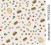 fast food vegetables seamless...