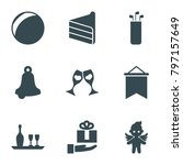 Holiday Icons. Set Of 9...