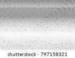 black and white dotted... | Shutterstock .eps vector #797158321