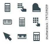 keyboard icons. set of 9... | Shutterstock .eps vector #797159059