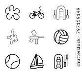 recreational icons. set of 9... | Shutterstock .eps vector #797159149