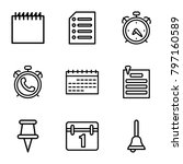 reminder icons. set of 9...   Shutterstock .eps vector #797160589