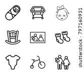 newborn icons. set of 9... | Shutterstock .eps vector #797160931