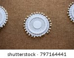 pin set for sewing on dark... | Shutterstock . vector #797164441