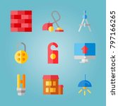 icon set about real assets.... | Shutterstock .eps vector #797166265