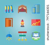 icon set about real assets.... | Shutterstock .eps vector #797166301