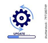 update software icon. vector... | Shutterstock .eps vector #797180749