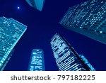 night view of shinjuku...   Shutterstock . vector #797182225