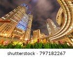 night view of shinjuku... | Shutterstock . vector #797182267