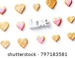 cookies for valentine day... | Shutterstock . vector #797183581