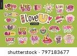 set of contemporary girlie love ... | Shutterstock .eps vector #797183677
