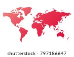 simplified silhouette of world... | Shutterstock .eps vector #797186647