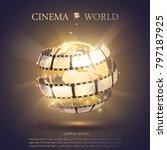 cinema banner illustration   Shutterstock .eps vector #797187925