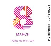 greeting card with march 8....