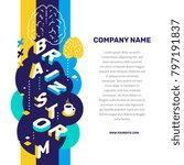 brainstorming concept. vector... | Shutterstock .eps vector #797191837