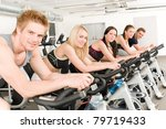 fitness group of people on... | Shutterstock . vector #79719433