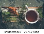 cocoa drink in white cup | Shutterstock . vector #797194855