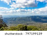 the sky and the mountains. | Shutterstock . vector #797199139