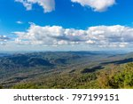 the sky and the mountains. | Shutterstock . vector #797199151