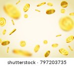 isolated objects of gold coins...   Shutterstock .eps vector #797203735