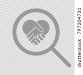 handshake heart symbol vector... | Shutterstock .eps vector #797204731