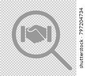 business handshake vector icon... | Shutterstock .eps vector #797204734