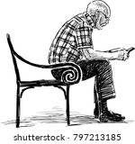 a senior man with a mobile... | Shutterstock .eps vector #797213185