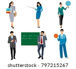 vector illustration of six... | Shutterstock .eps vector #797215267