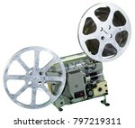 a movie projector is an opto... | Shutterstock . vector #797219311