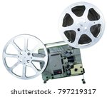 a movie projector is an opto...   Shutterstock . vector #797219317