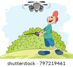 vector illustration of a boy... | Shutterstock .eps vector #797219461