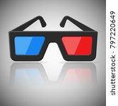 cinema glasses icon. blue and... | Shutterstock .eps vector #797220649