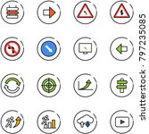 line vector icon set   sign... | Shutterstock .eps vector #797235085