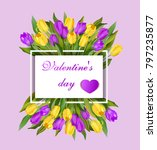 greeting banner with yellow and ... | Shutterstock .eps vector #797235877
