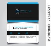 white black and blue creative... | Shutterstock .eps vector #797237257
