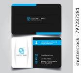 black white and blue creative... | Shutterstock .eps vector #797237281